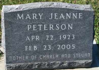 PETERSON, MARY JEANNE - Clay County, South Dakota | MARY JEANNE PETERSON - South Dakota Gravestone Photos
