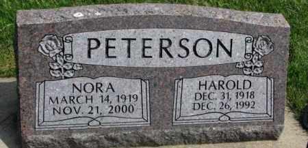 PETERSON, NORA - Clay County, South Dakota | NORA PETERSON - South Dakota Gravestone Photos