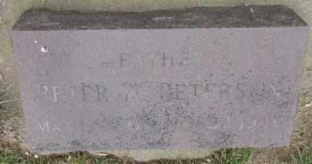 PETERSON, PETER W. - Clay County, South Dakota   PETER W. PETERSON - South Dakota Gravestone Photos