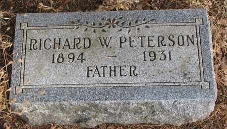 PETERSON, RICHARD W. - Clay County, South Dakota | RICHARD W. PETERSON - South Dakota Gravestone Photos