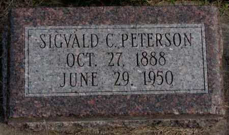 PETERSON, SIGVALD C. - Clay County, South Dakota | SIGVALD C. PETERSON - South Dakota Gravestone Photos