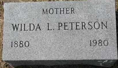 PETERSON, WILDA L. - Clay County, South Dakota | WILDA L. PETERSON - South Dakota Gravestone Photos