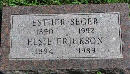 ERICKSON, ELSIE - Clay County, South Dakota | ELSIE ERICKSON - South Dakota Gravestone Photos