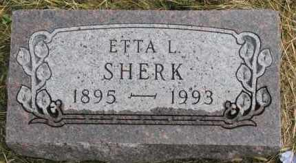 SHERK, ETTA L. - Clay County, South Dakota | ETTA L. SHERK - South Dakota Gravestone Photos