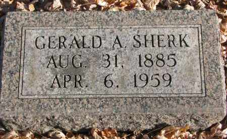 SHERK, GERALD A. - Clay County, South Dakota   GERALD A. SHERK - South Dakota Gravestone Photos