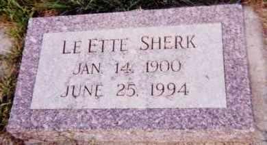 SHERK, LE ETTE - Clay County, South Dakota | LE ETTE SHERK - South Dakota Gravestone Photos
