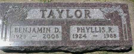 TAYLOR, BENJAMIN D. - Clay County, South Dakota   BENJAMIN D. TAYLOR - South Dakota Gravestone Photos
