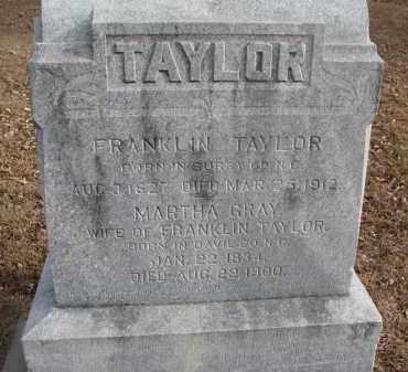 TAYLOR, MARTHA - Clay County, South Dakota | MARTHA TAYLOR - South Dakota Gravestone Photos