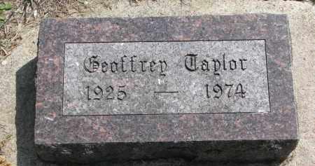 TAYLOR, GEAFFREY - Clay County, South Dakota   GEAFFREY TAYLOR - South Dakota Gravestone Photos