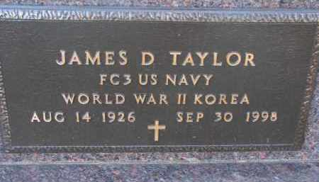 TAYLOR, JAMES D. (MILITARY) - Clay County, South Dakota   JAMES D. (MILITARY) TAYLOR - South Dakota Gravestone Photos