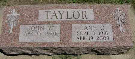 TAYLOR, JANE C. - Clay County, South Dakota | JANE C. TAYLOR - South Dakota Gravestone Photos