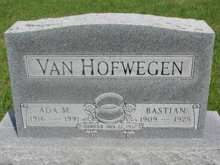 VAN HOFWEGEN, BASTIAN - Clay County, South Dakota | BASTIAN VAN HOFWEGEN - South Dakota Gravestone Photos