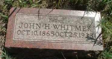WHITMER, JOHN H. - Clay County, South Dakota   JOHN H. WHITMER - South Dakota Gravestone Photos
