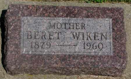 WIKEN, BERET - Clay County, South Dakota | BERET WIKEN - South Dakota Gravestone Photos