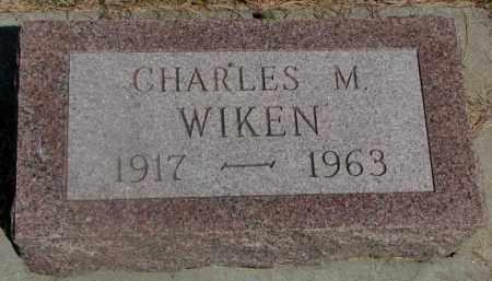 WIKEN, CHARLES M. - Clay County, South Dakota   CHARLES M. WIKEN - South Dakota Gravestone Photos