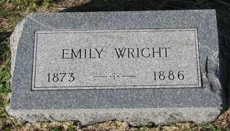 WRIGHT, EMILY - Clay County, South Dakota | EMILY WRIGHT - South Dakota Gravestone Photos