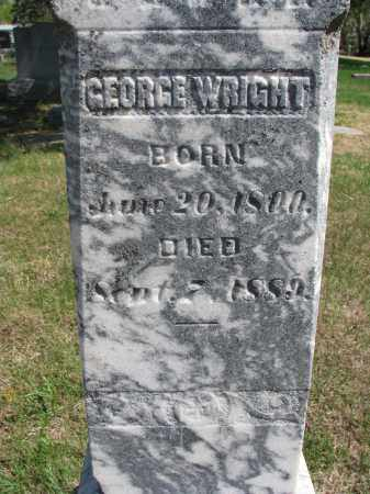WRIGHT, GEORGE (CLOSEUP) - Clay County, South Dakota | GEORGE (CLOSEUP) WRIGHT - South Dakota Gravestone Photos
