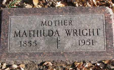 WRIGHT, MATHILDA - Clay County, South Dakota | MATHILDA WRIGHT - South Dakota Gravestone Photos