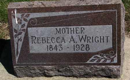 WRIGHT, REBECCA A. - Clay County, South Dakota | REBECCA A. WRIGHT - South Dakota Gravestone Photos