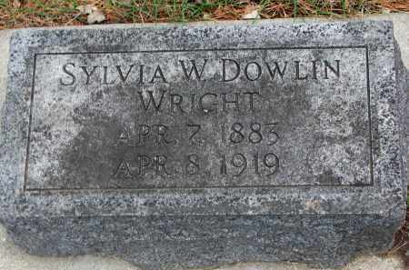 WRIGHT, SYLVIA W. - Clay County, South Dakota | SYLVIA W. WRIGHT - South Dakota Gravestone Photos
