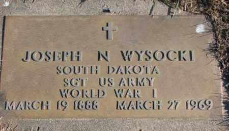 WYSOCKI, JOSEPH N. - Clay County, South Dakota | JOSEPH N. WYSOCKI - South Dakota Gravestone Photos