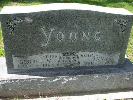 YOUNG, ANNA - Clay County, South Dakota | ANNA YOUNG - South Dakota Gravestone Photos