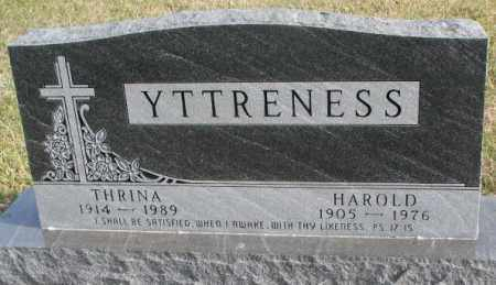 YTTRENESS, THRINA - Clay County, South Dakota | THRINA YTTRENESS - South Dakota Gravestone Photos