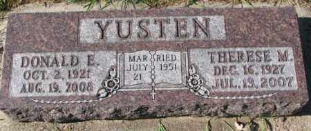 YUSTEN, DONALD E. - Clay County, South Dakota | DONALD E. YUSTEN - South Dakota Gravestone Photos