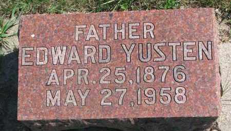 YUSTEN, EDWARD - Clay County, South Dakota   EDWARD YUSTEN - South Dakota Gravestone Photos