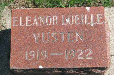 YUSTEN, ELEANOR LUCILLE - Clay County, South Dakota | ELEANOR LUCILLE YUSTEN - South Dakota Gravestone Photos