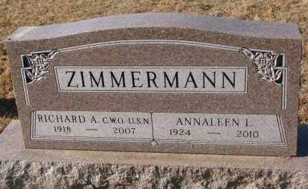 ZIMMERMAN, ANNALEEN LORETTA  - Clay County, South Dakota | ANNALEEN LORETTA  ZIMMERMAN - South Dakota Gravestone Photos