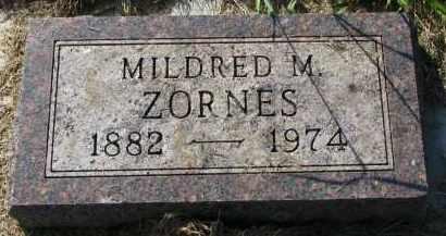 ZORNES, MILDRED M. - Clay County, South Dakota | MILDRED M. ZORNES - South Dakota Gravestone Photos