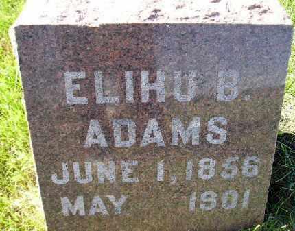 ADAMS, ELIHU B. - Codington County, South Dakota   ELIHU B. ADAMS - South Dakota Gravestone Photos
