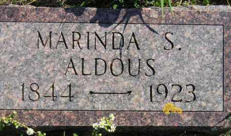 COTTON ALDOUS, MARINDA SHAW - Codington County, South Dakota | MARINDA SHAW COTTON ALDOUS - South Dakota Gravestone Photos