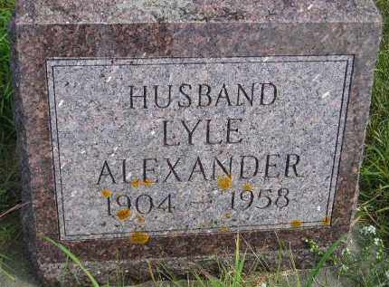 ALEXANDER, LYLE - Codington County, South Dakota | LYLE ALEXANDER - South Dakota Gravestone Photos