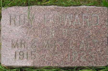 ALT, ROY EDWARD - Codington County, South Dakota   ROY EDWARD ALT - South Dakota Gravestone Photos