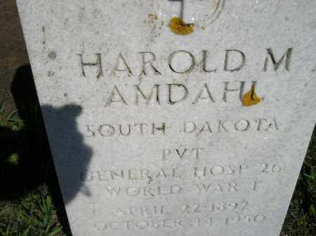 AMDAHL, HAROLD M. - Codington County, South Dakota | HAROLD M. AMDAHL - South Dakota Gravestone Photos