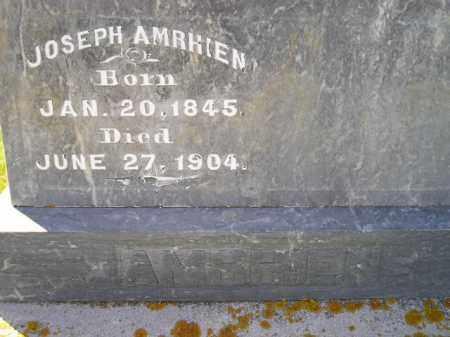 AMRHIEN, JOSEPH - Codington County, South Dakota   JOSEPH AMRHIEN - South Dakota Gravestone Photos
