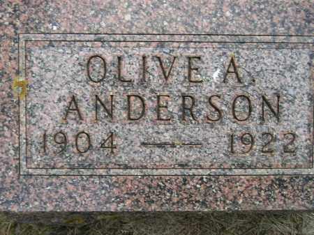 ANDERSON, OLIVE A. - Codington County, South Dakota | OLIVE A. ANDERSON - South Dakota Gravestone Photos