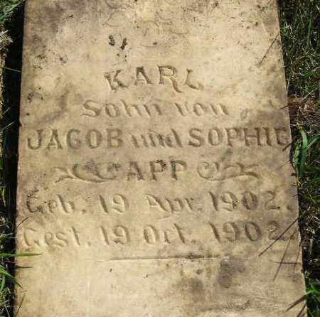 APP, KARL - Codington County, South Dakota | KARL APP - South Dakota Gravestone Photos