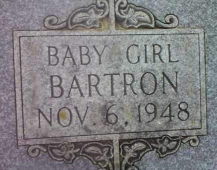 BARTRON, BABY GIRL - Codington County, South Dakota   BABY GIRL BARTRON - South Dakota Gravestone Photos