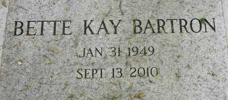 BARTRON, BETTE KAY - Codington County, South Dakota | BETTE KAY BARTRON - South Dakota Gravestone Photos