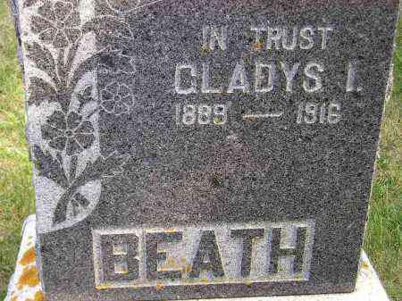 BEATH, GLADYS I. - Codington County, South Dakota | GLADYS I. BEATH - South Dakota Gravestone Photos