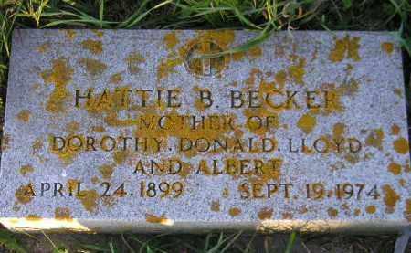 BECKER, HATTIE BERTHA - Codington County, South Dakota | HATTIE BERTHA BECKER - South Dakota Gravestone Photos