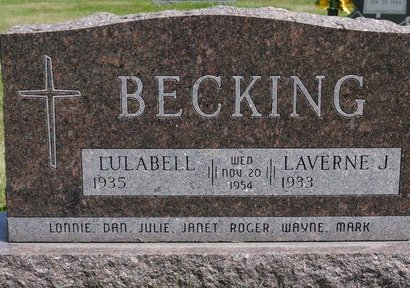 BECKING, LAVERNE J. - Codington County, South Dakota | LAVERNE J. BECKING - South Dakota Gravestone Photos