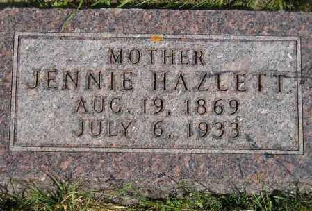 HAZELETT BELK, JENNIE - Codington County, South Dakota | JENNIE HAZELETT BELK - South Dakota Gravestone Photos