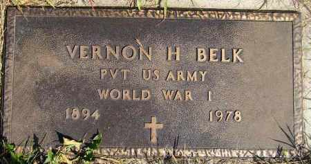 BELK, VERNON H. (WW I) - Codington County, South Dakota | VERNON H. (WW I) BELK - South Dakota Gravestone Photos