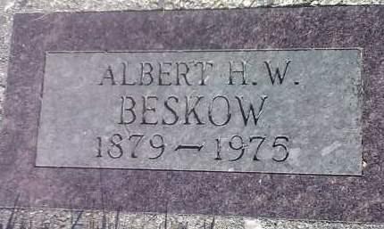 BESKOW, ALBERT H W - Codington County, South Dakota | ALBERT H W BESKOW - South Dakota Gravestone Photos