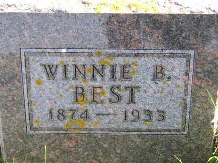 BEST, WINNIE BELLE - Codington County, South Dakota | WINNIE BELLE BEST - South Dakota Gravestone Photos