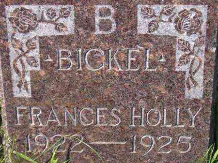 BICKEL, FRANCES HOLLY - Codington County, South Dakota   FRANCES HOLLY BICKEL - South Dakota Gravestone Photos